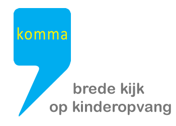 Logo komma vzw kinderopvang